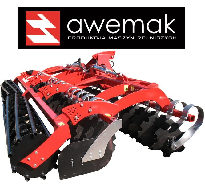 Awemak Folding disc harrow with spring protection HIGHEST QUALITY