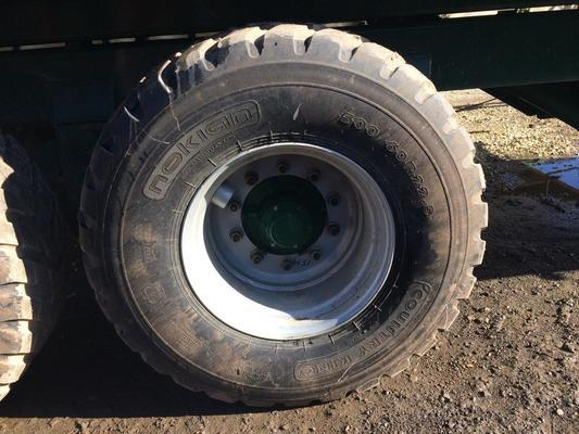 Nokian 4 X PART WORN 500/60 R22.5  COUNTRY KING + RIMS