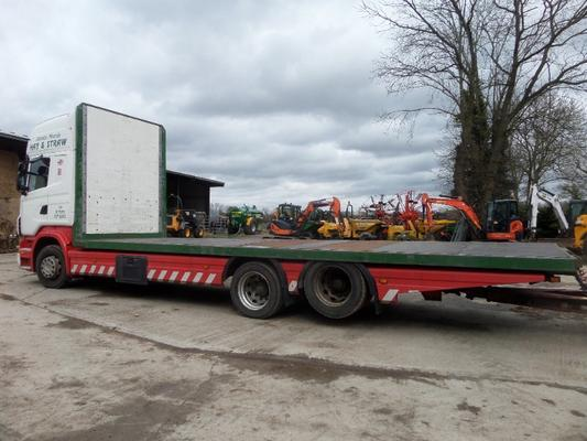 SCANIA R420 TOP LINE 6×2 REAR LIFT AND DRAG TRAILER