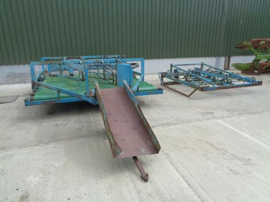 Used Cook Flat 10 Bale Sledge and Grab