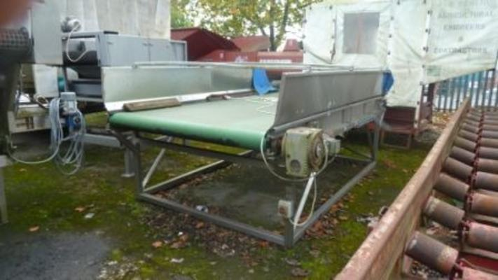 "Hoppers Stainless steel 72"" x 10' feed hopper."