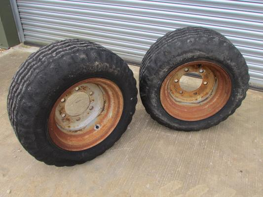 Trelleborg 340/55-16 Pair solid filled used wheels and tyres