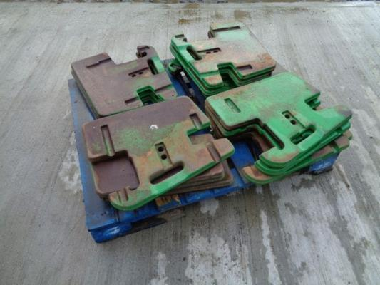 John Deere Used  50KG Wafer Weights x 16