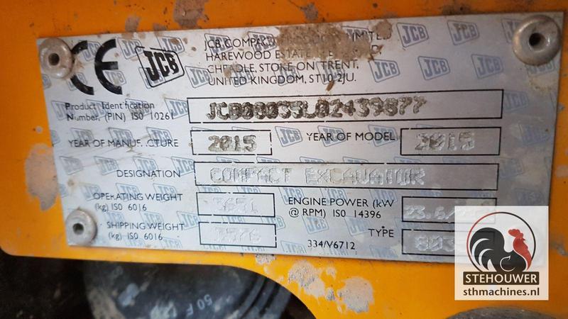 JCB 8035ZTS #17301 Excavators Used in 3299 XG Maasdam