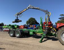 BIGAB 17-20 Hooklift Trailer With Crane