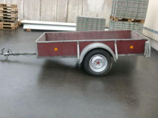 A used car trailer.
